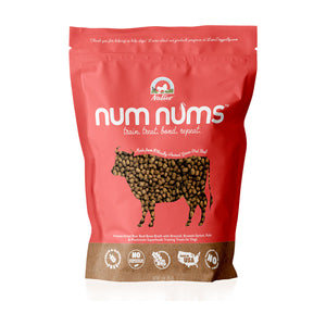 Nativo Naturals Num Nums™ Superfoods Beef Training Treats for Dogs  - Ethically Sourced, Made in USA - Grain & Gluten Free