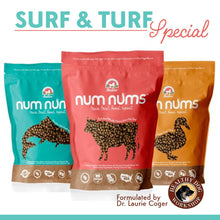Load image into Gallery viewer, Nativo Naturals Num Nums™ Superfoods Training Treats for Dogs - 3 flavors - Ethically Sourced, Made in USA - Grain & Gluten Free