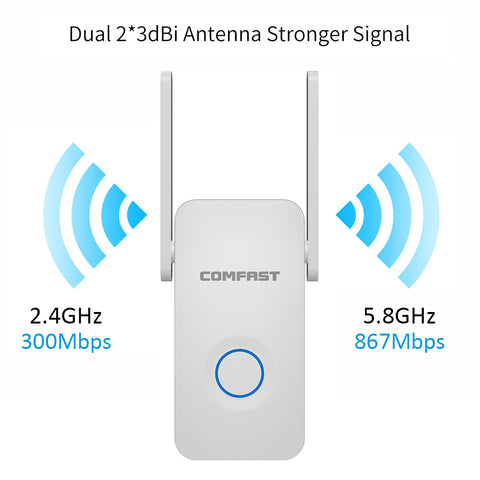 Powerful Dual Band 1200Mbps WiFi Extender