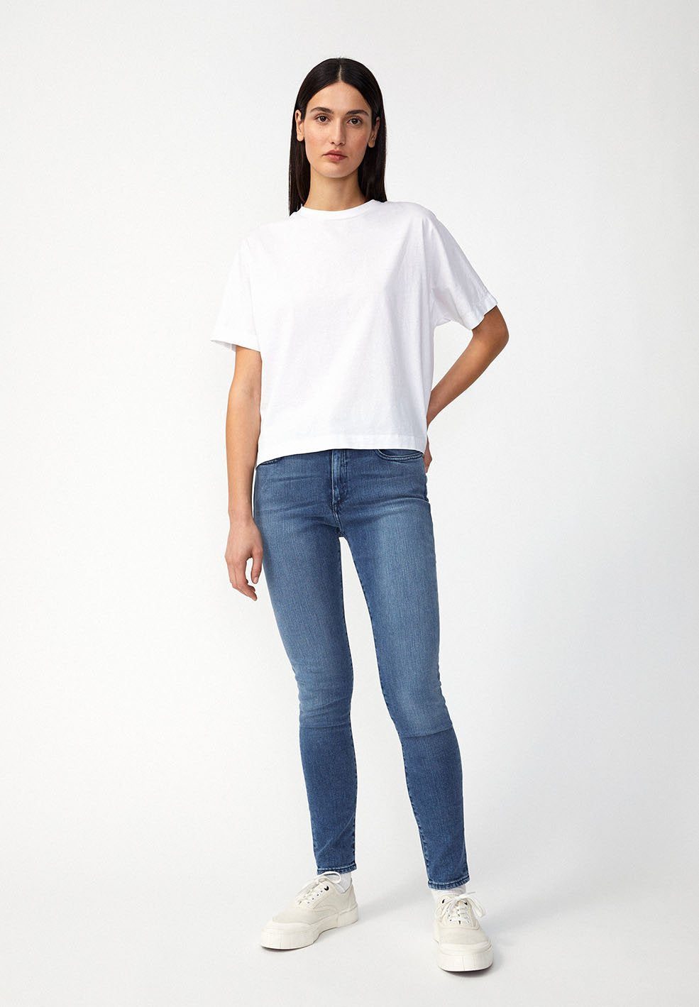 Tillaa Skinny Fit stone washed
