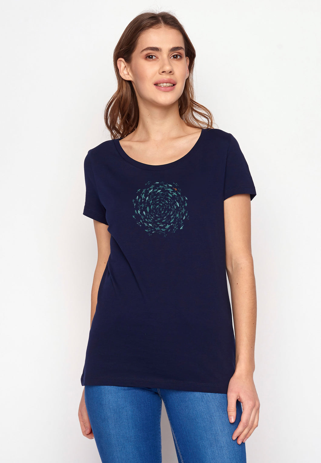 Animal Fish Circle Loves Dark Navy