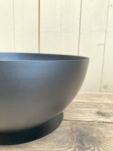 Black Shallow Pot L