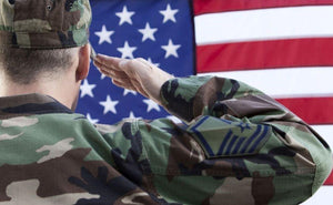 Military Theme Soldier Saluting
