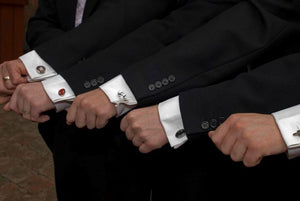 Cuff Links on Groomsmen