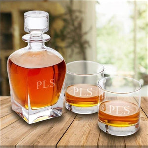 Whiskey Decanter-3 Initials