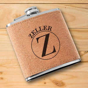 Custom Text Cork Flask