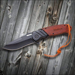 Load image into Gallery viewer, Personalized Saw Mountain Pocket Knife