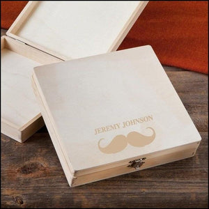 Cigar Keepsake Box-Mustache