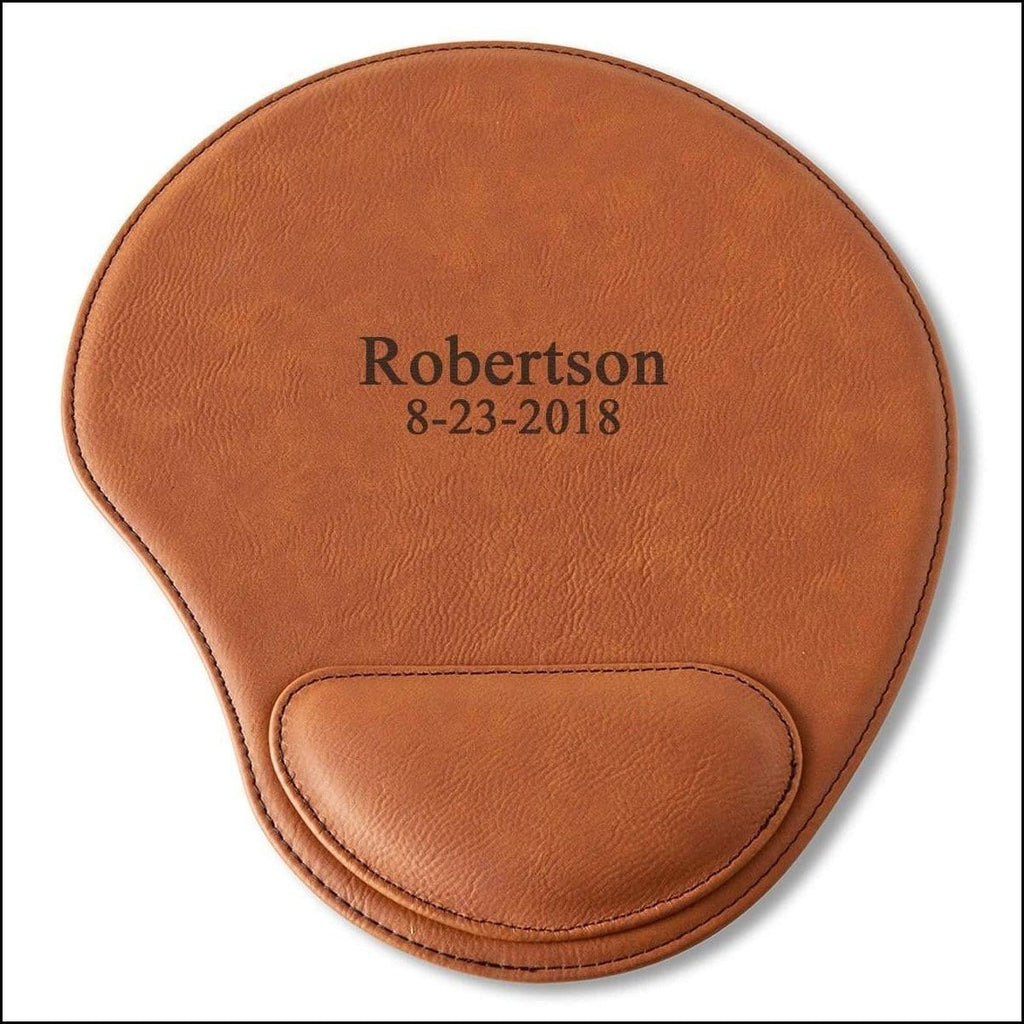 Personalized Rawhide Mouse Pad