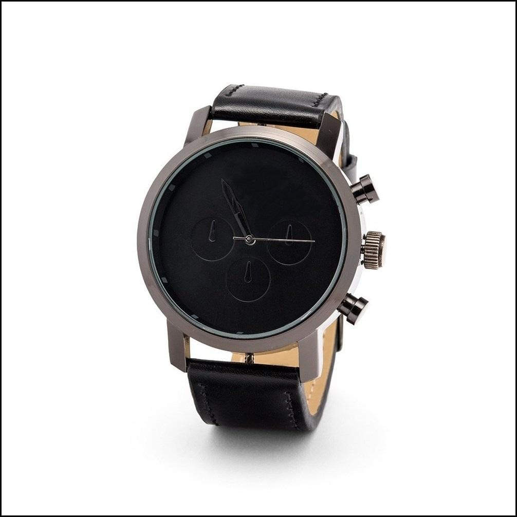 Black Wrist Watch-Personalized