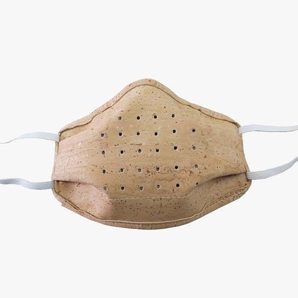 Eco friendly, reusable cork mask