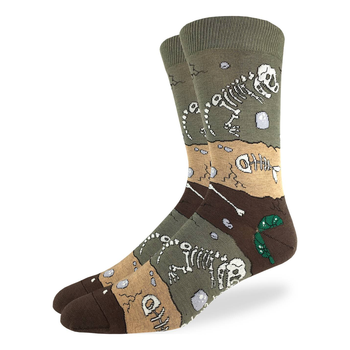 Good Luck Sock Mens - Dinosaur Fossil Layers