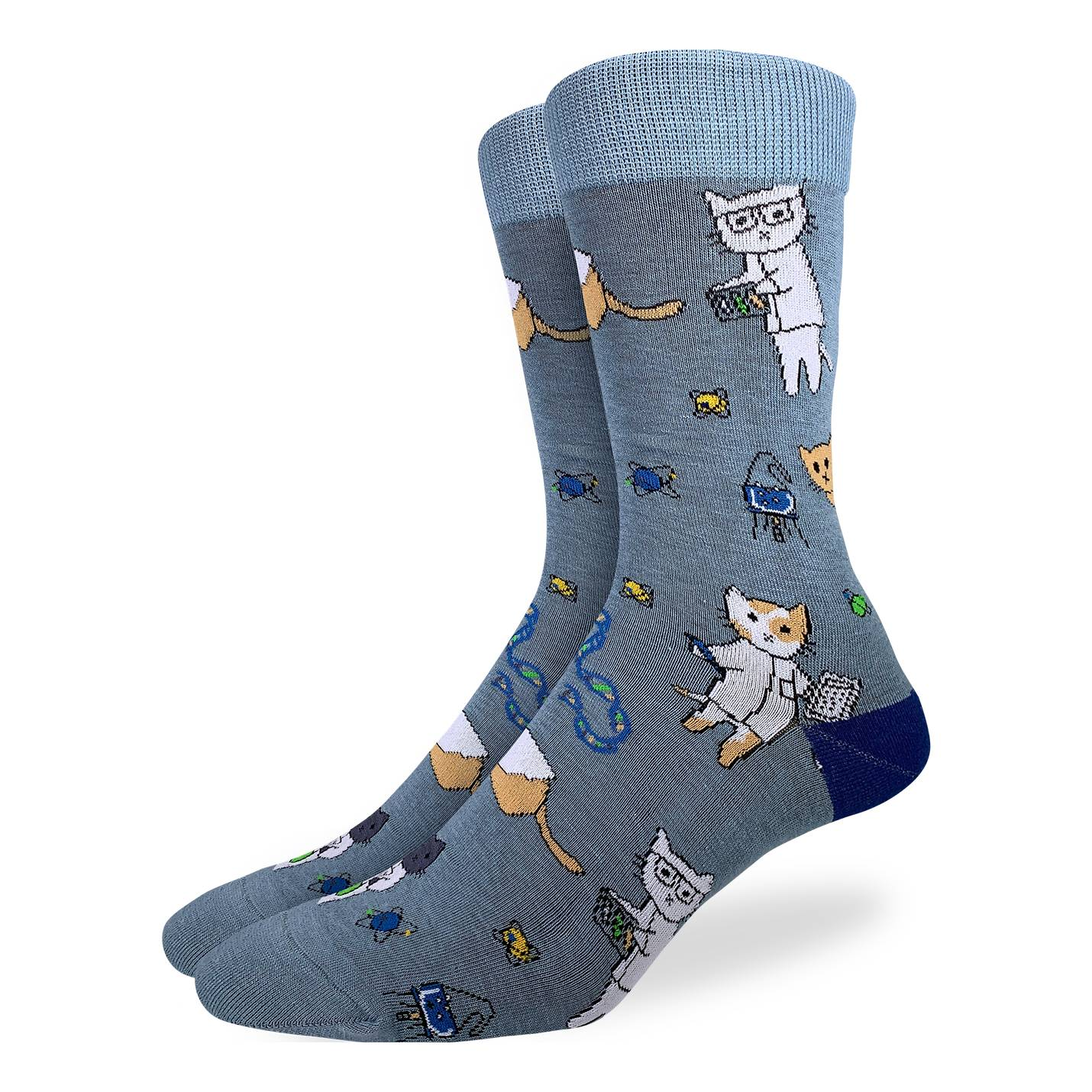Good Luck Sock Mens - Science Cats