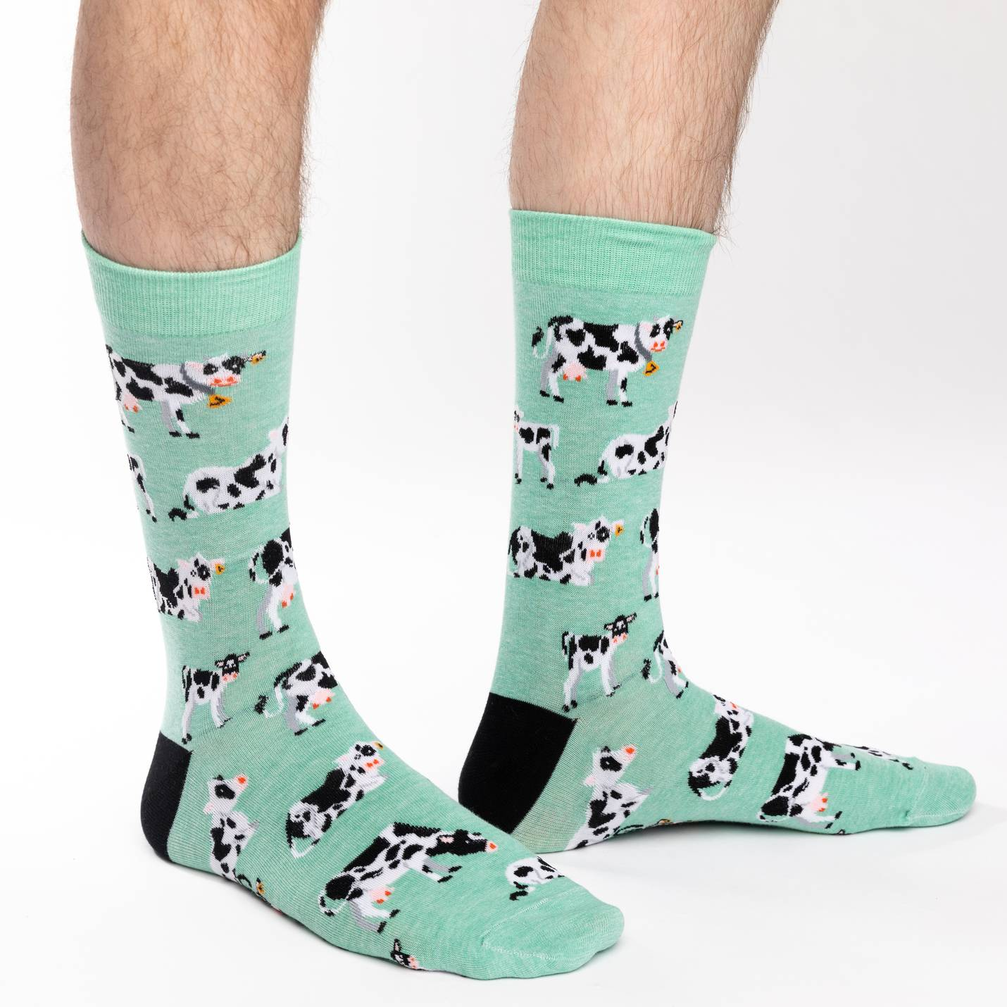 Good Luck Sock Mens - Cows in a Field