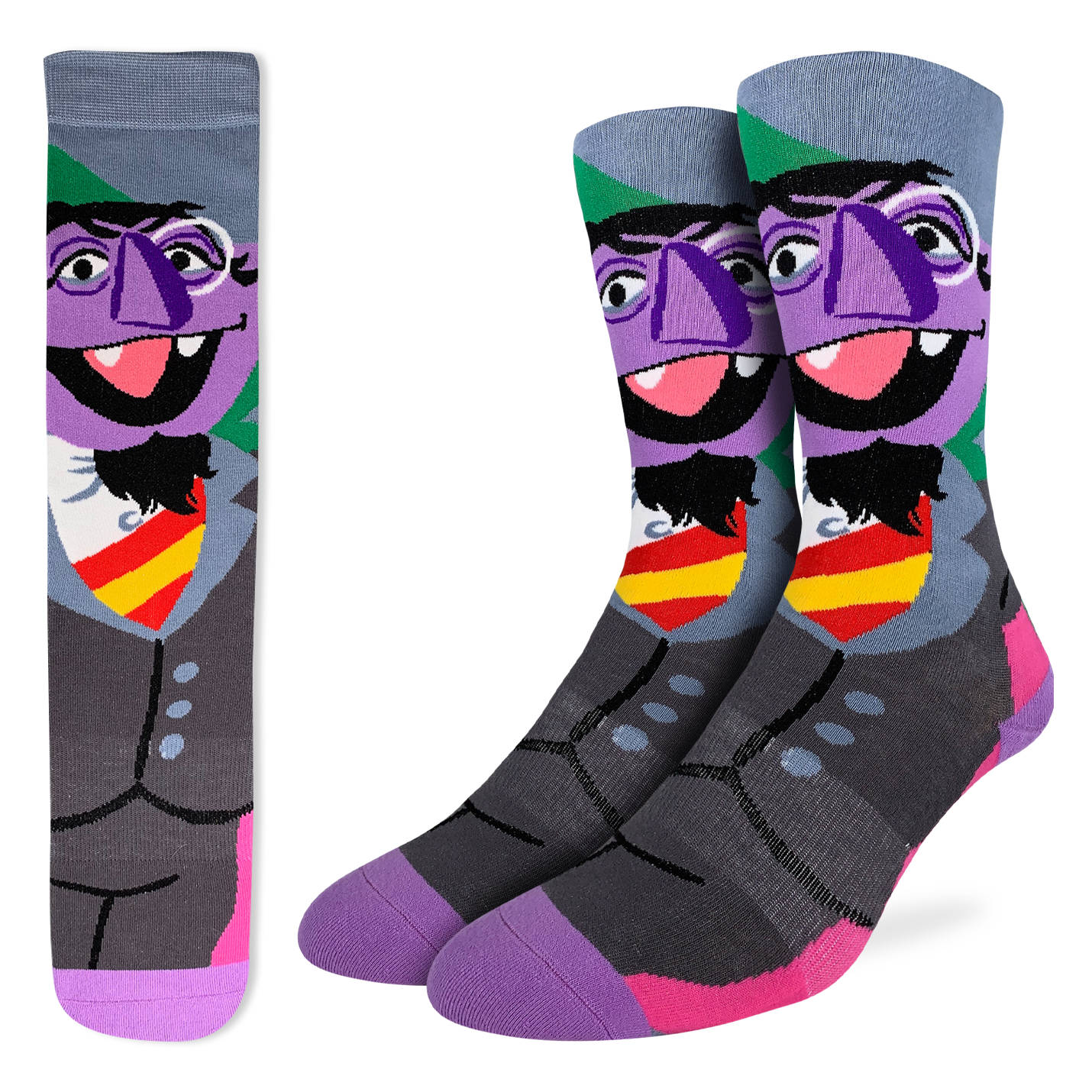 Good Luck Mens Active Fit - Sesame Street Count Von Count