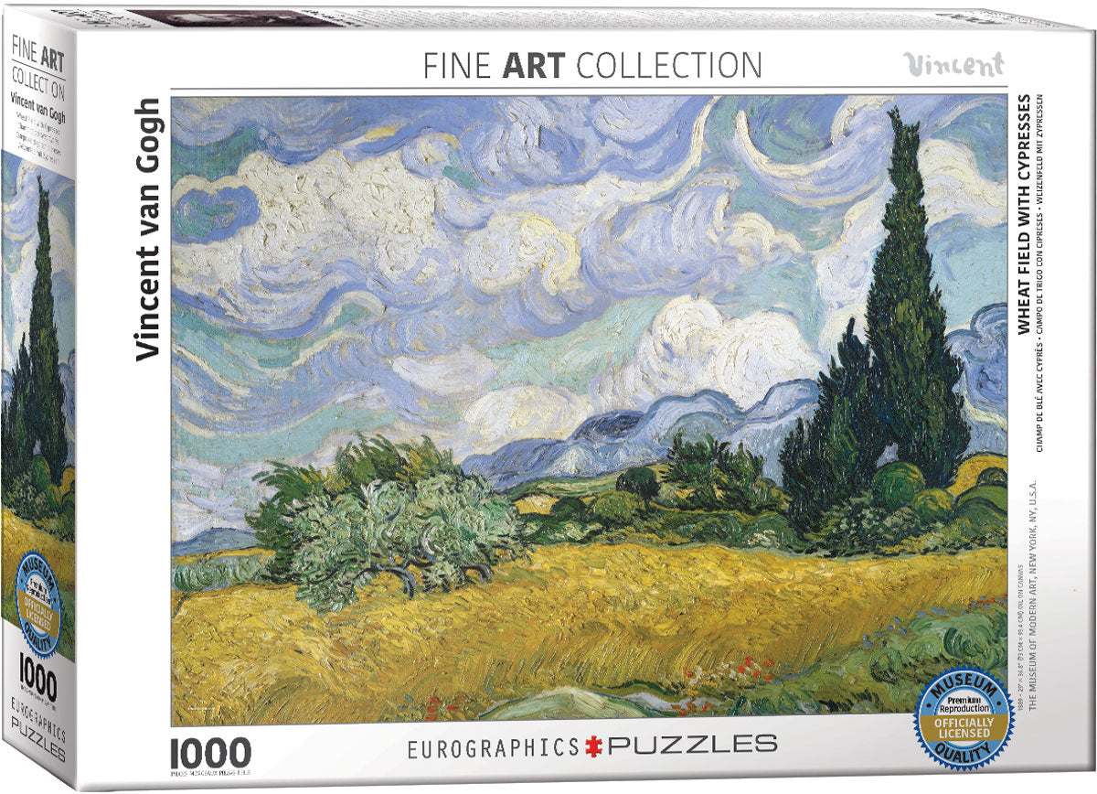 Wheat Field with Cypresses 1000 piece Eurographics