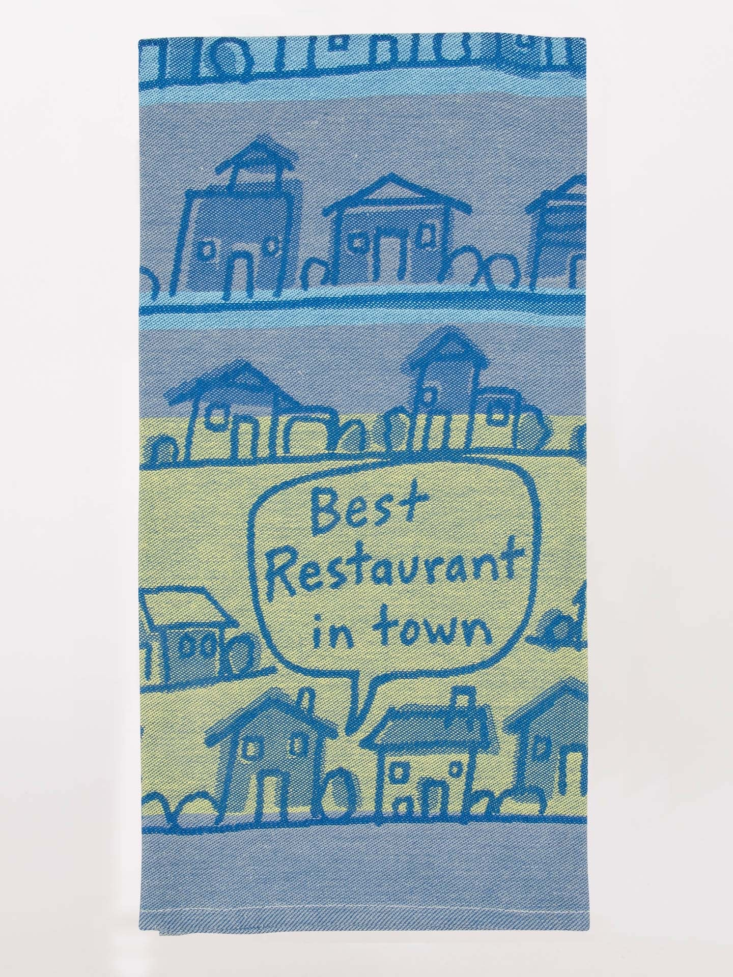 Blue Q Dish Towel - Best Restaurant in Town