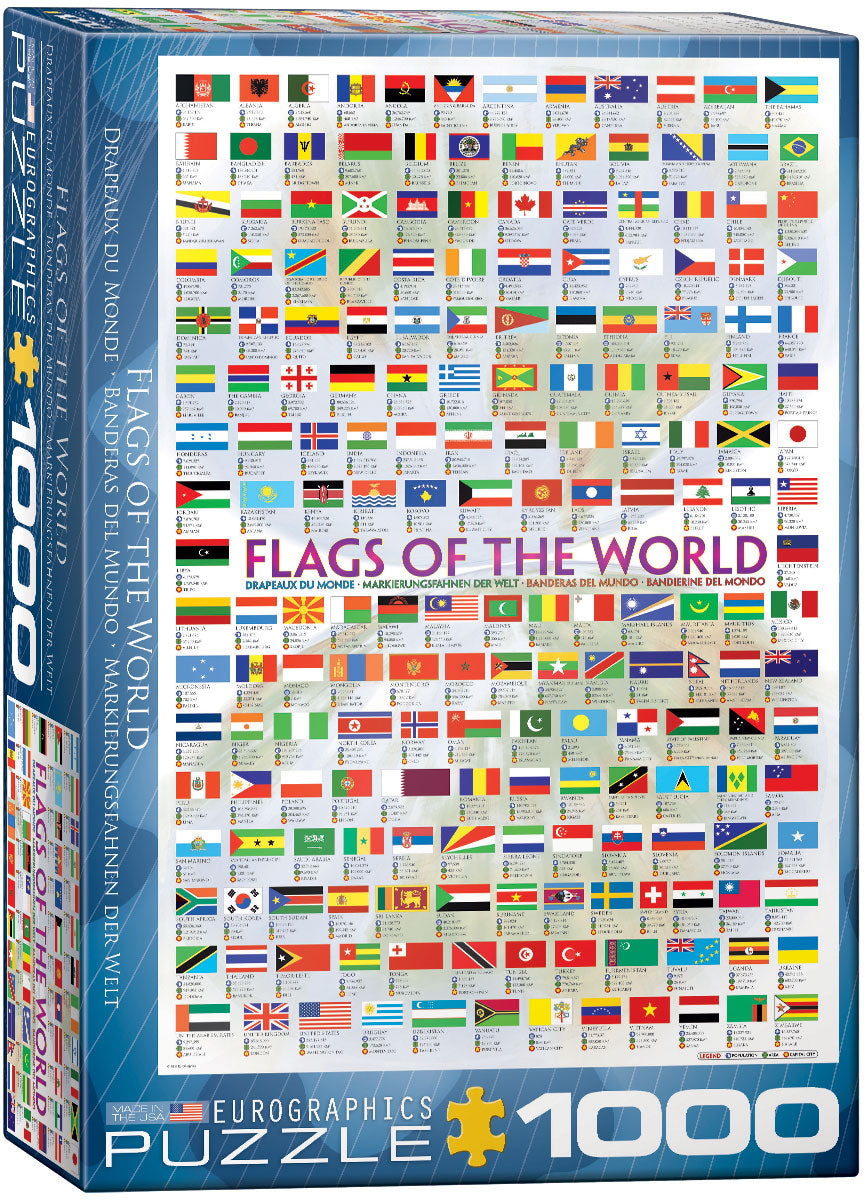 Flags of the World 1000 piece Eurographics