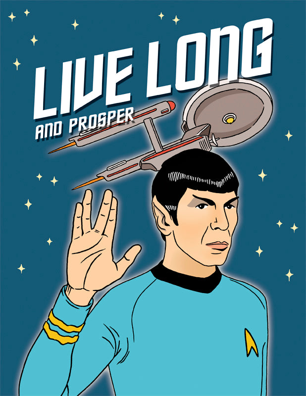 Live Long and Prosper - The Found Birthday Card