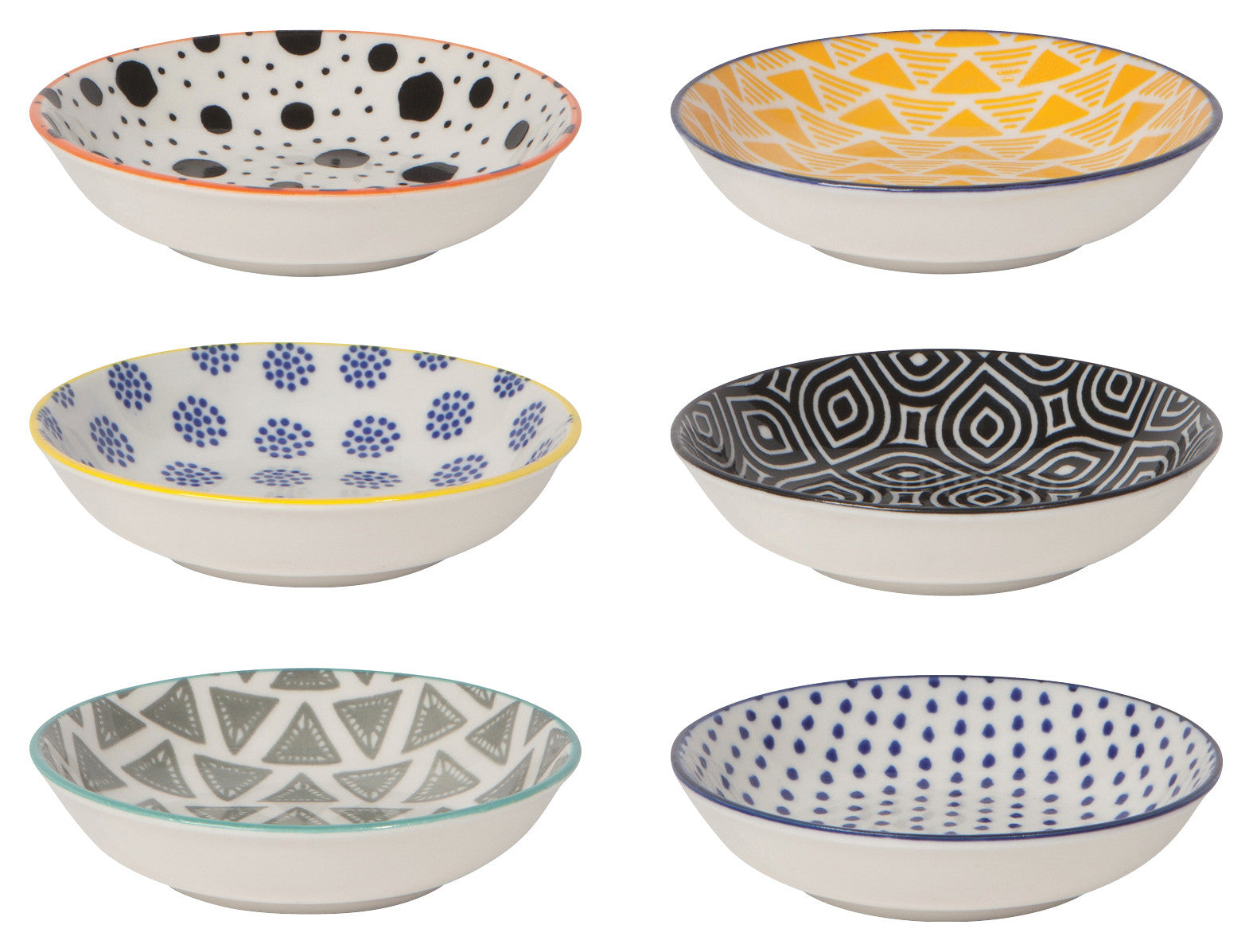 Bits & Dots Pinch Bowls - Set of Six