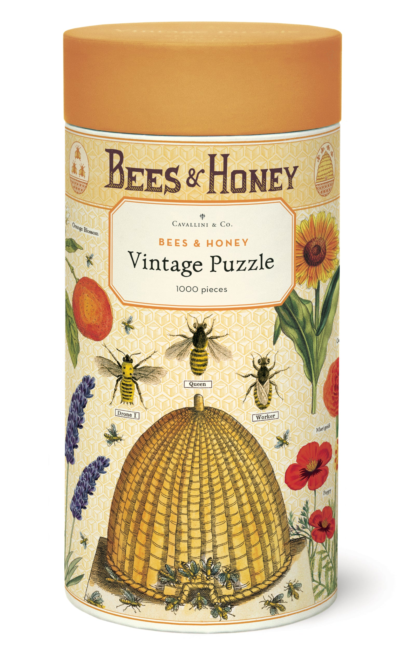 Bees & Honey 1000 pc Cavallini Puzzle