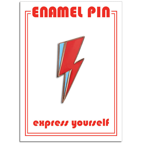 The Found - Bowie Lightning Bolt pin