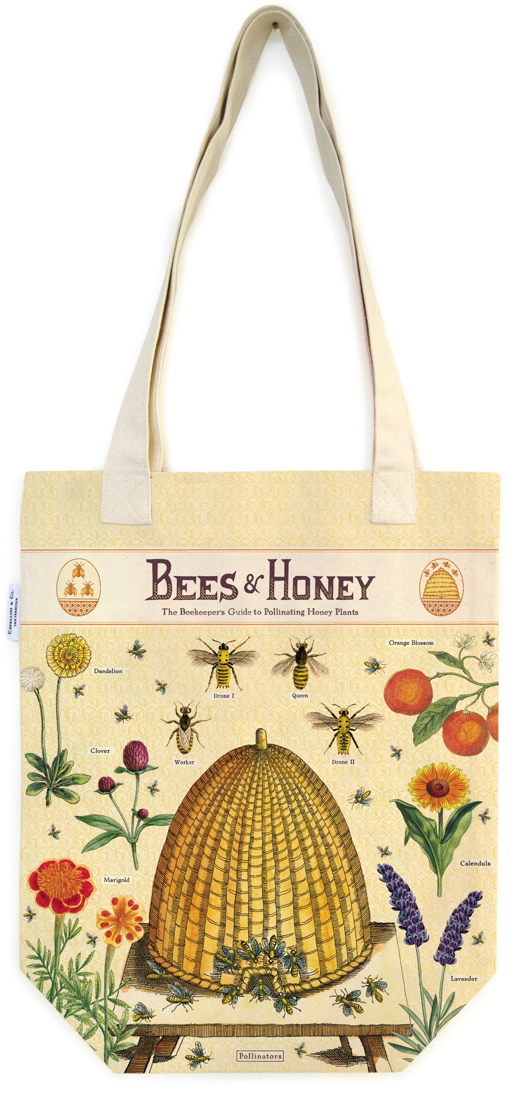 Bees & Honey Tote Bag - Cavallini
