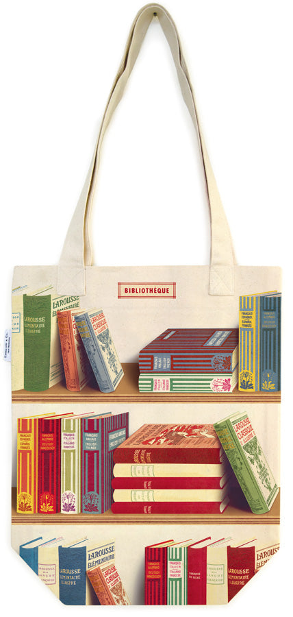 Library Books Tote Bag - Cavallini