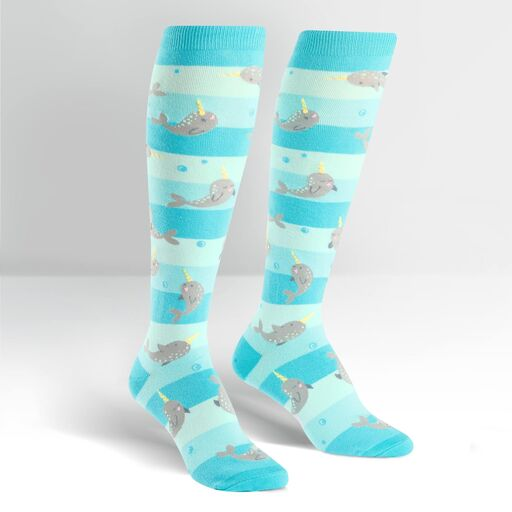 Sock it to Me Knee High - Unicorn of the Sea