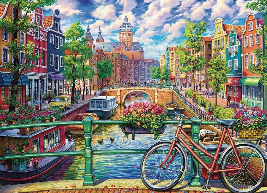 Amsterdam Canal 1000 piece Cobble Hill
