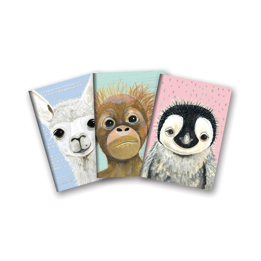 Baby Animals 3 Pack Notebooks