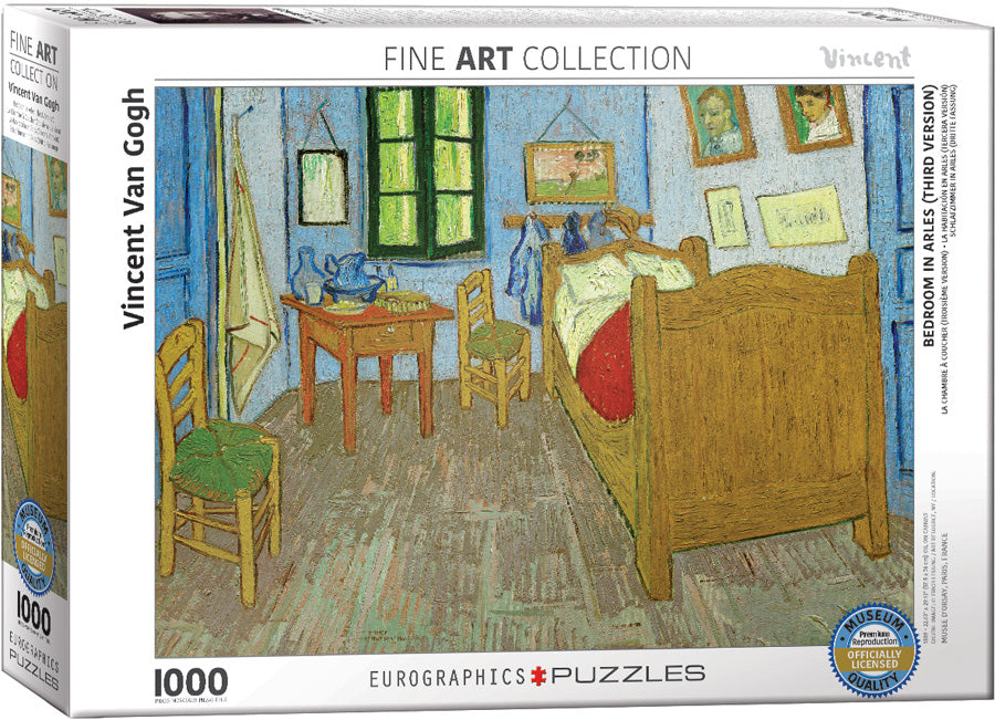 Bedroom in Arles - Van Gogh 1000 piece Eurographics