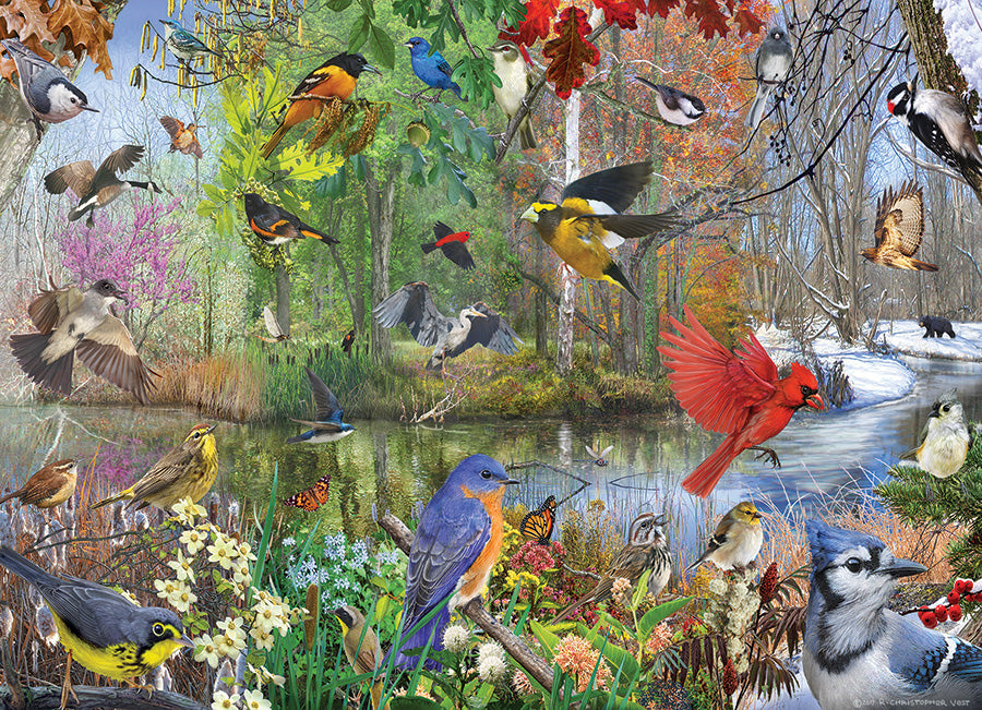 Birds of the Season 1000 piece Cobble Hill