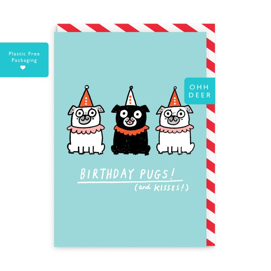 Birthday Pugs - Birthday Card
