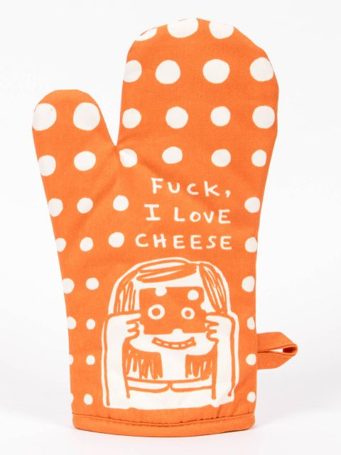 Blue Q Oven Mitt - Fuck I love Cheese
