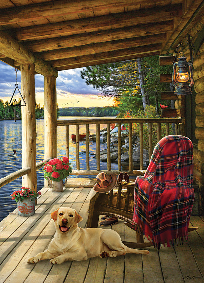 Cabin Porch - MODULAR 1000 piece Cobble Hill