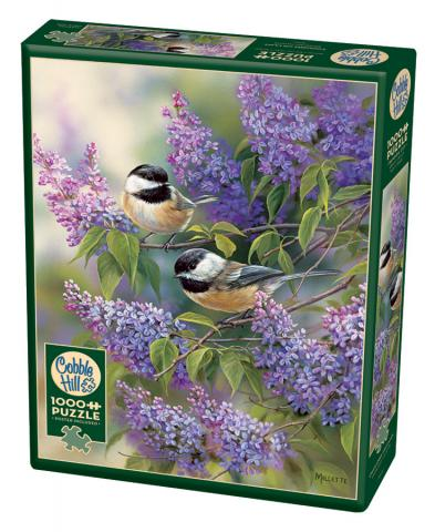 Chickadees and Lilacs 1000 piece Cobble Hill