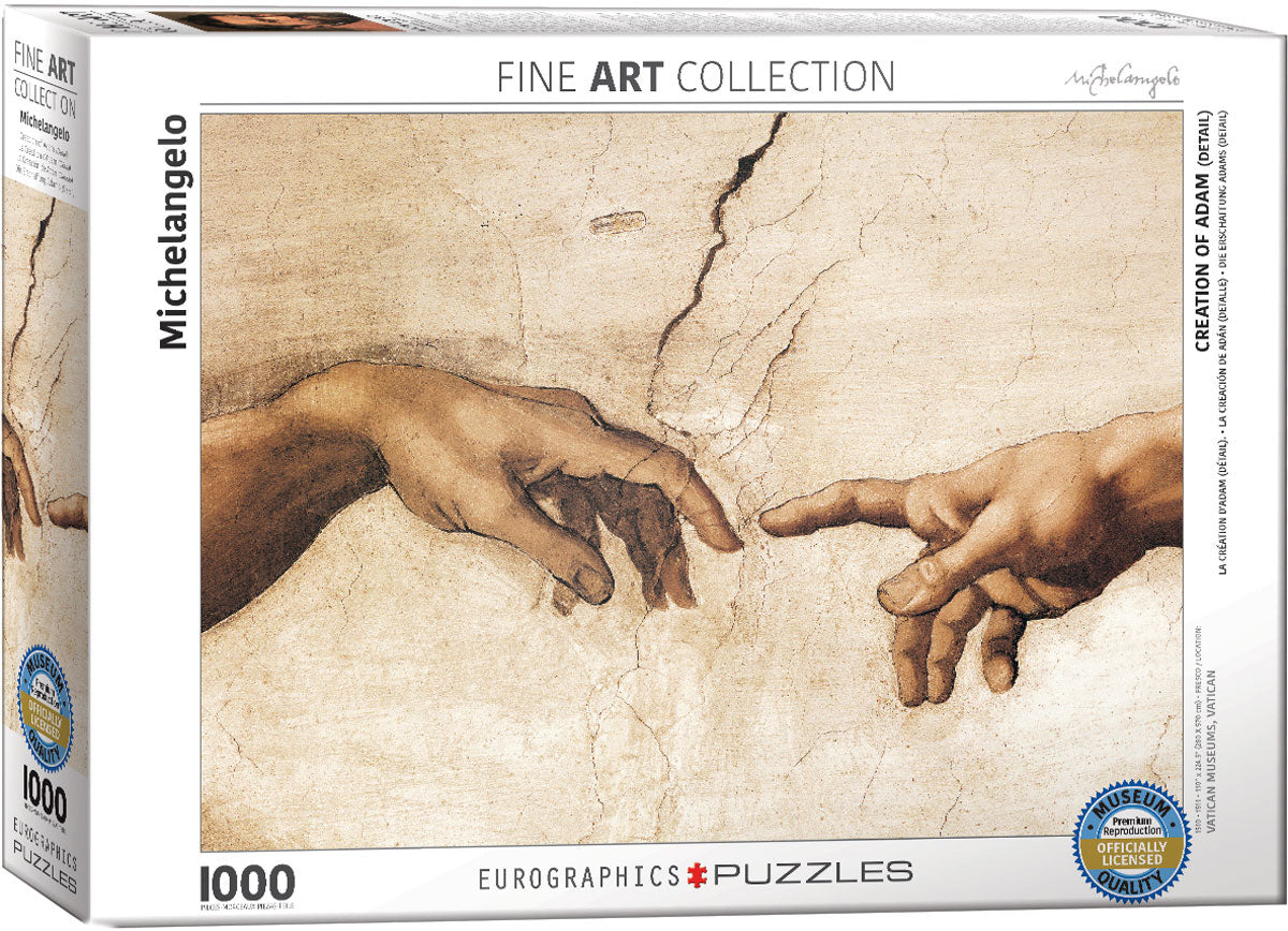 Michelangelo - Creation of Adam (detail) 1000 piece Eurographics
