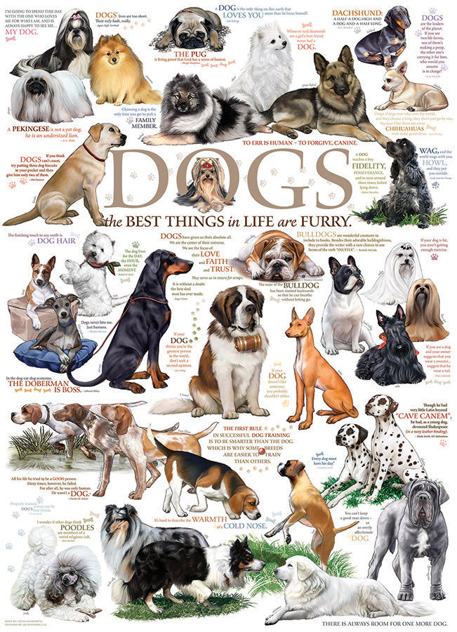 Dog Quotes 1000 piece Cobble Hill