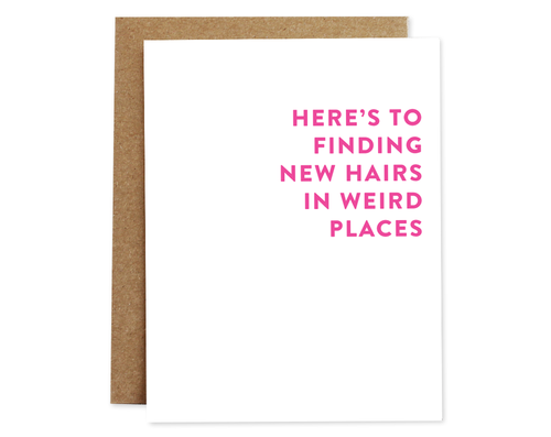 Finding Hairs - Rhubarb Paper Birthday Card