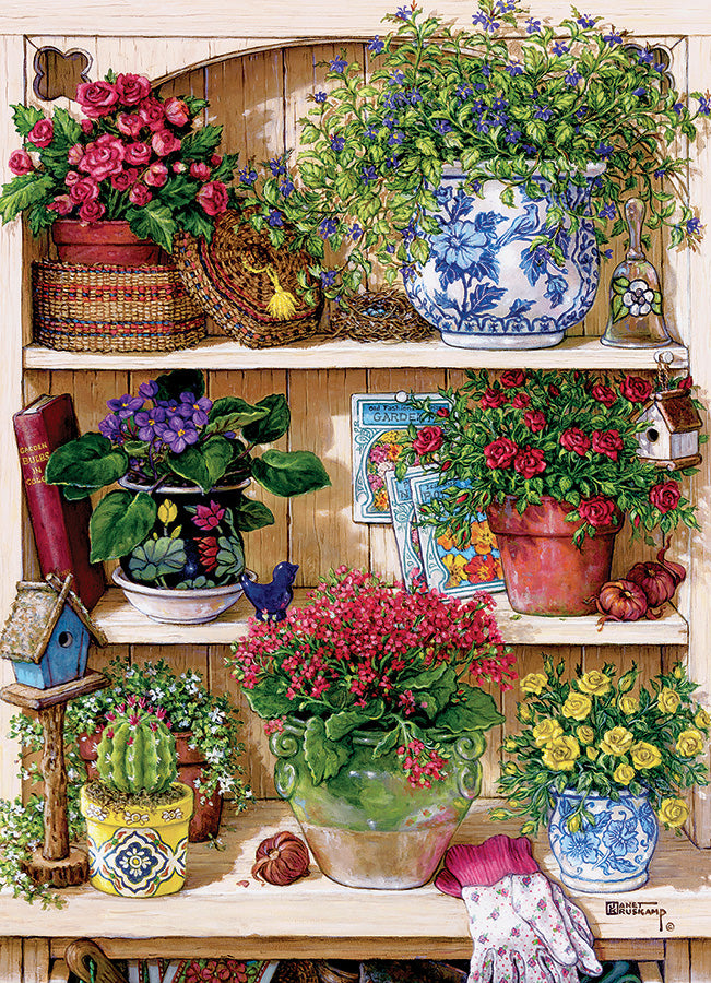 Flower Cupboard 500 piece Cobble Hill