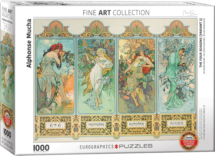 Alphonse Mucha - The Four Seasons 1000pc Eurographics
