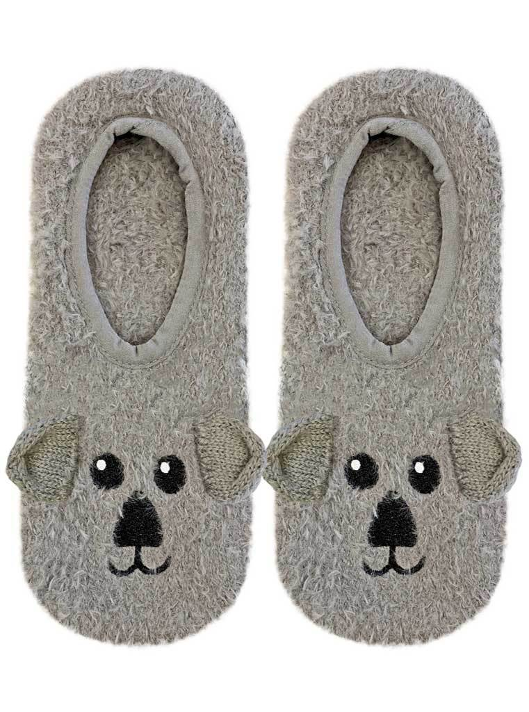 Fuzzy Slipper Socks - Koala