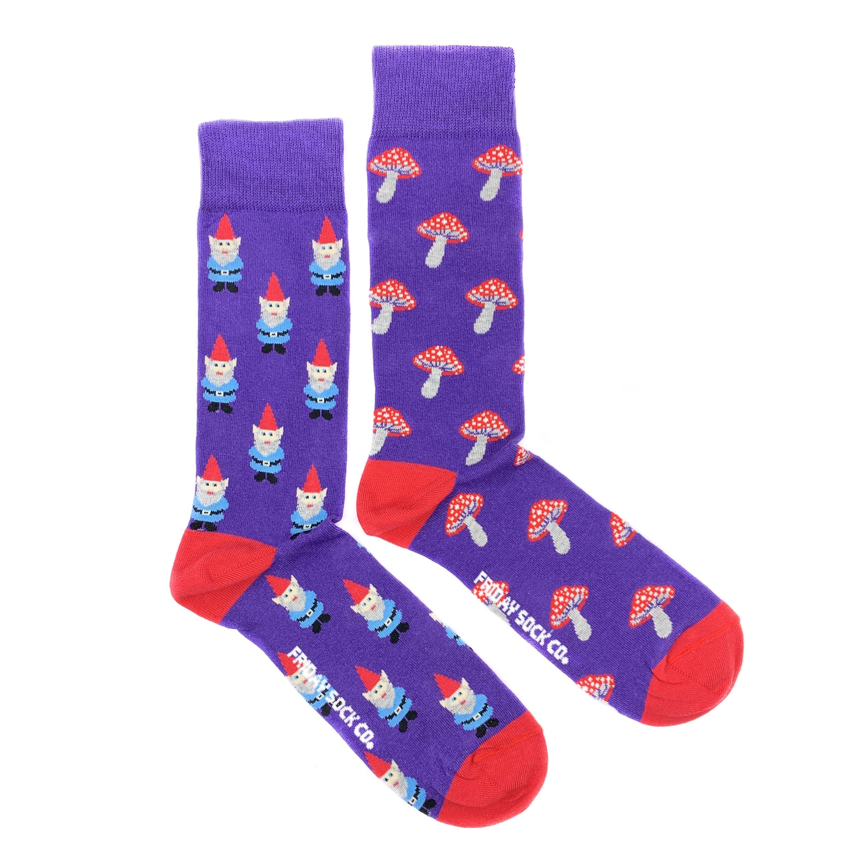 Friday Sock Co. -  Men's Gnomes & Mushrooms