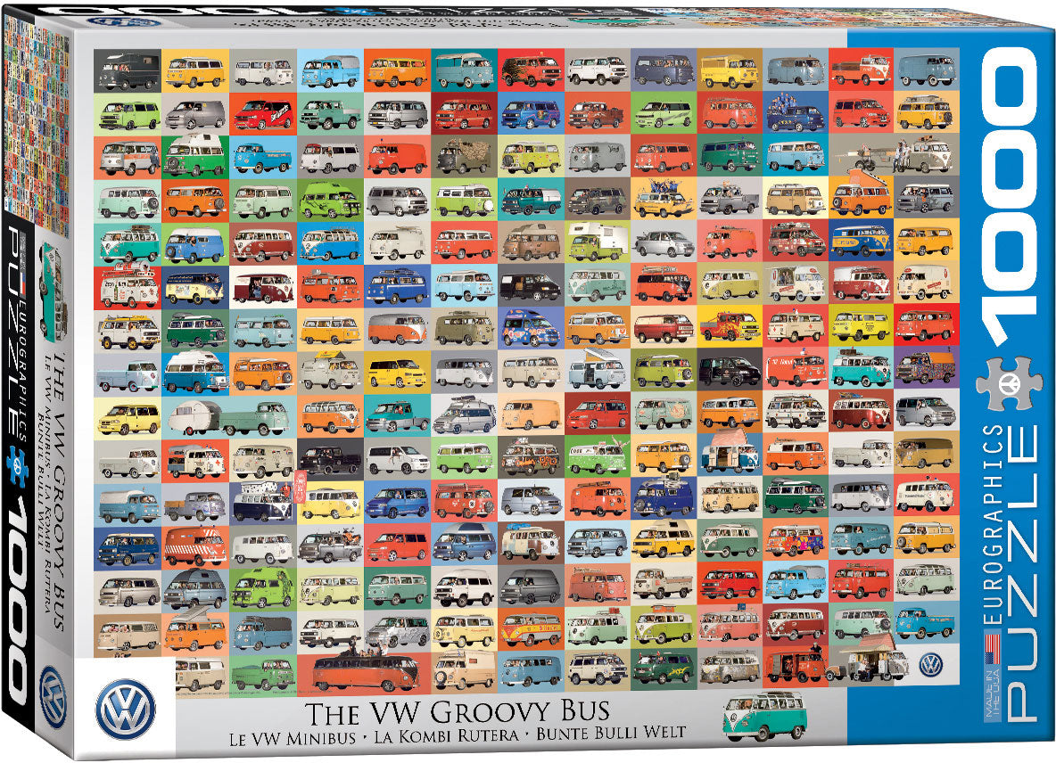 The VW Groovy Bus - 1000 piece Eurographics
