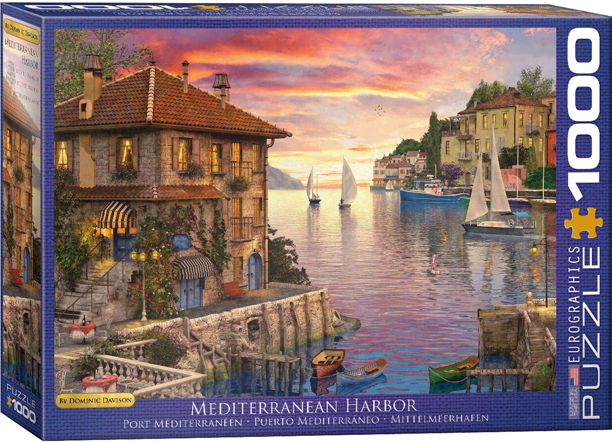Mediterranean Harbor 1000pc Eurographics