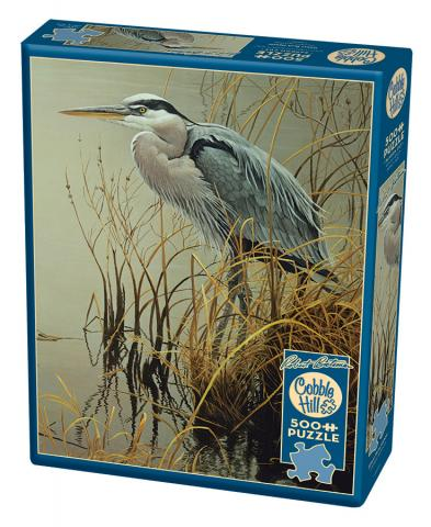 Great Blue Heron 500 pc Cobble Hill