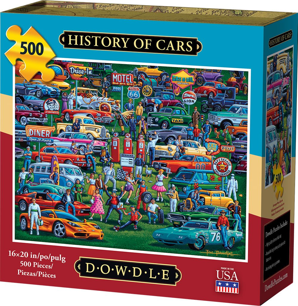 Dowdle - History of Cars 500 pc Puzzle