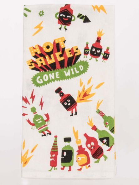 Blue Q Dish Towel - Hot Sauces Gone Wild