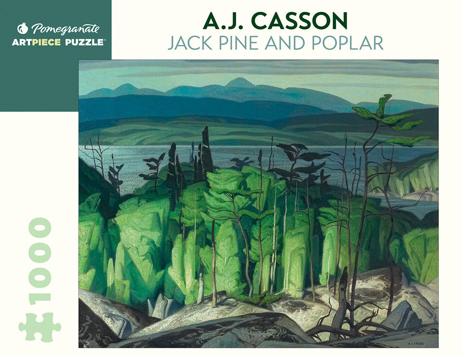 A.J. Casson - Jack Pine and Poplar 1000 pc Pomegranate Puzzle